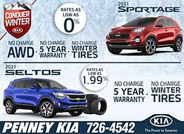 CONQUER WINTER with PENNEY KIA