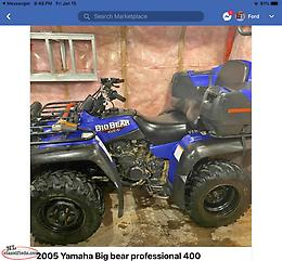 Around 2005 Yamaha Big Bear Professional 400