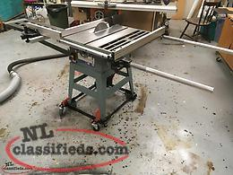 2 hp Table Saw With Stock sliding Crosscut Table