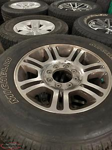 NEW FORD F 150/GM HD'S 18 INCH POLISHED ALLOYS WITH TIRES $1250 AND UP