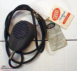 Vintage NOS 1950's & 60's Shure 505 Ranger High Impedance mic with sales tags