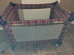 Playpen-Folds-Great Condition-Plaid Pattern-Unisex, $50