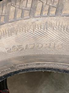 265/70/18 artic claw tires