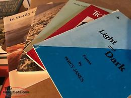 Collection of books of Newfoundland poetry