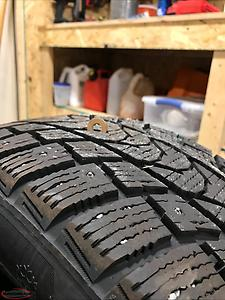 Studded winter tires 215/55R/18