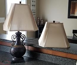 BOMBAY LAMP AND SHADES