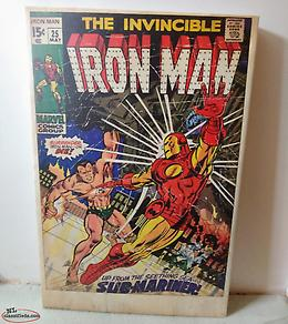 Large Ironman Comic Cover Canvas