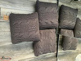 3 Grey Knit Throw Pillows from Bouclair