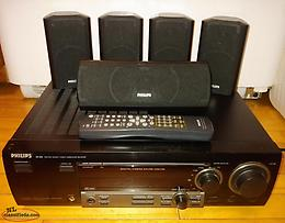 Phillips Receiver w/Surround Speakers & Subwoofer