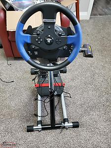 steering wheel and stand