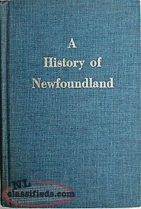 wanted book: A HISTORY OF NEWFOUNDLAND FROM ENGLISH, COLONIAL AND By D. W. Prows