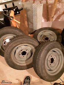 5.5 x 5lug steel wheels with dish