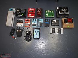 guitar pedals and other items