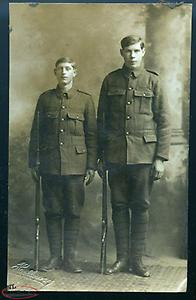 wanted WWI NEWFOUNDLAND REGIMENT SOLDIERS post card