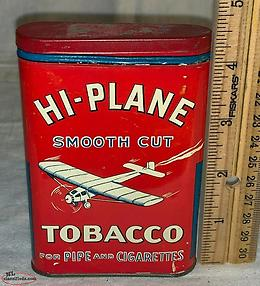 wanted HI PLANE pocket TOBACCO TIN