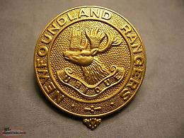 wanted NEWFOUNDLAND RANGERS WWII CAP BADGE NFLD PRE-1949