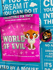 Hong Kong Disneyland World of Evil Mystery Collection Pin ~ Scar