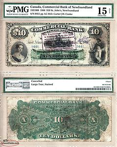 wanted 1888 $10 Commercial Bank of Newfoundland