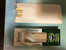 Bamboo straws and toothbrushes
