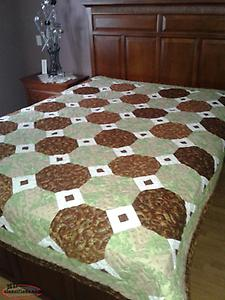 New Home Made Queen Size Quilt made in no pet non smoking home.