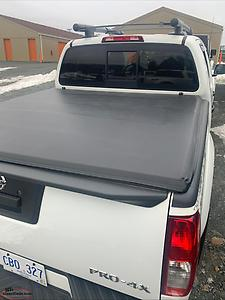 Soft trifold cover for 2018 nissan frontier 5 ft box