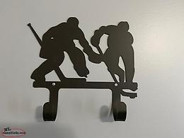 Set of 2 hooks on Hockey Wall Plaque