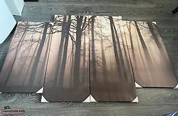 Large 4pc Wall Hanging Forest Theme