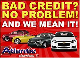 Bad Credit? No problem. AND WE MEAN IT!