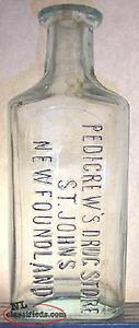wanted antique Newfoundland RELIABLE MANUFACTURING COMPANY bottles