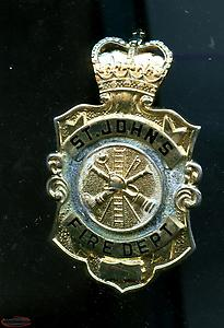 WANTED vintage St.John's Newfoundland Fire Department Badges