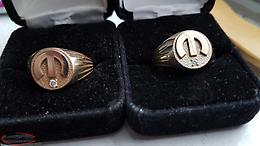 One of One Mopar Gold Rings With Diamonds