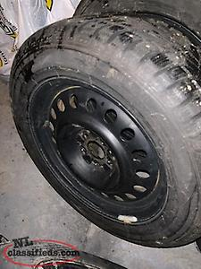 235/55/17 studded winter tires and rims