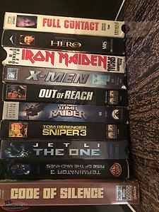 Large variety of VHS Movies