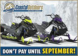 Don't Pay until SEPTEMBER with Coastal Outdoors!