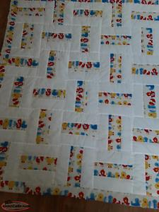 Baby Quilt with matching window valance