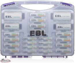 EBL Rechargeable Batteries 12 AA Batteries + 8AAA Batteries + 2Pcs C/D Converter