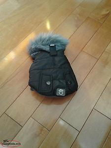 Beautiful brand new Size 2xs puppy or small doggie coat and 4 cute booties