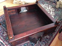 Coffee table 4'x4' solid wood