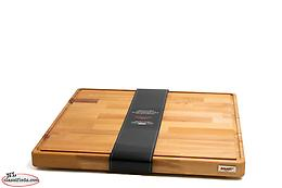 Italian Bisetti Thick Beech Wood Rectangular Footed Cutting Board Edge Groove