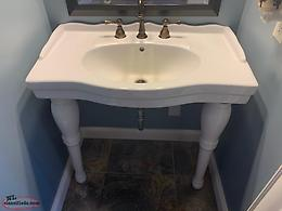 Imperial Console Bathroom Sink and Faucets