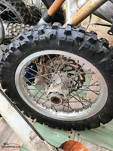90/100/14 tire and rim ( Came Off CRF 100 )