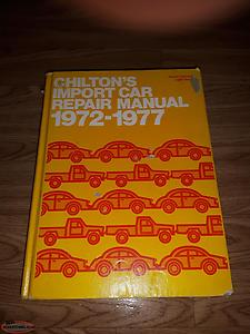 chiltons import car repair manual 1972 to 1977