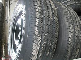 225 75 16 TIRES ON 2002 GRAND CHEROKE WHEELS