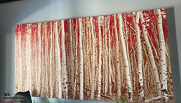 Large Red Birch Canvas from Bouclair