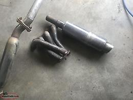 Stainless steel exhaust pipe,Fireball muffler and header.For Honda Civic