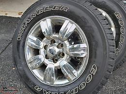 TIRES and OEM 18 INCH CHROME RIMS from FORD F150