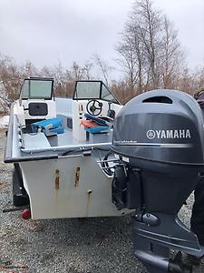 """Package deal"" Cabin boat motor and trailer"