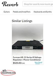 Furman AR-15 II Audiophile Power Conditioner Voltage Regulator