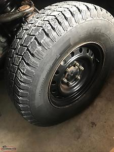 Tacoma winter rims and tires 16 inch set good shape.