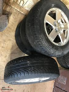 4 tires and rims 235/65r/16